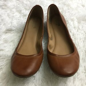 Mossimo Supply Co. brown round toe ballet flats